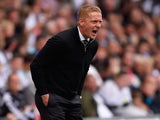 Swansea boss Garry Monk shouts to his team as they take on Newcastle on August 15, 2015