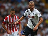 Harry Kane in action during Spurs' game with Stoke on August 15, 2015