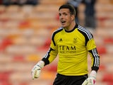 Jamie Langfield of Aberdeen during the Pre Season Friendly match between Aberdeen and FC Twente at Pittodrie Stadium on July 26, 2013
