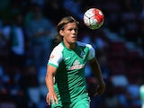 Jannik Vestergaard of SV Werder Bremen during the Betway Cup match between West Ham Utd and SV Werder Bremen at Boleyn Ground on August 2, 2015