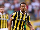 Lewis Baker of Vitesse in action during the UEFA Europa League third qualifying Round 2nd Leg match between Vitesse Arnhem and Southampton FC held at GelreDome on August 6, 2015