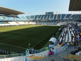 General view of the La Rosaleda Stadium in Malaga on August 23, 2014