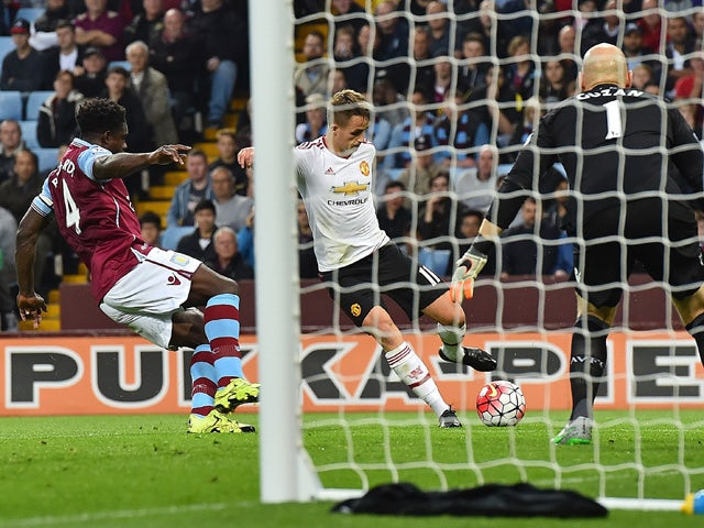 Result: United maintain perfect start at Villa