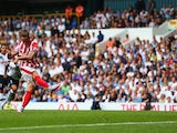 Marko Arnautovic bags Stoke's first against Spurs on August 15, 2015
