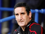 Manager of Sunderland Ricky Sbragia looks on before kick off in their match against Portsmouth during their Premiership football match at Fratton Park in London on May 18, 2009.