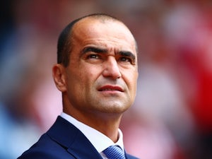 Everton boss Roberto Martinez watches on as his side take on Southampton on August 15, 2015