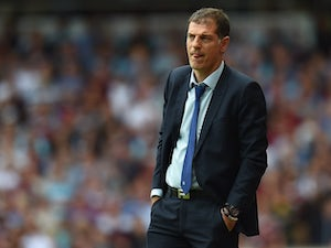 West Ham manager Slaven Bilic watches on during the game with Leicester on August 15, 2015