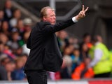 Newcastle boss Steve McClaren calls for peace during the game with Swansea on August 15, 2015