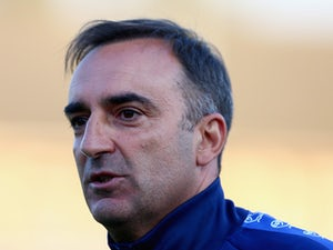 Carlos Carvalhal manager of Sheffield Wednesday looks on during the pre season friendly match between Ilkeston and Sheffield Wednesday at the New Manor Ground on July 15, 2015