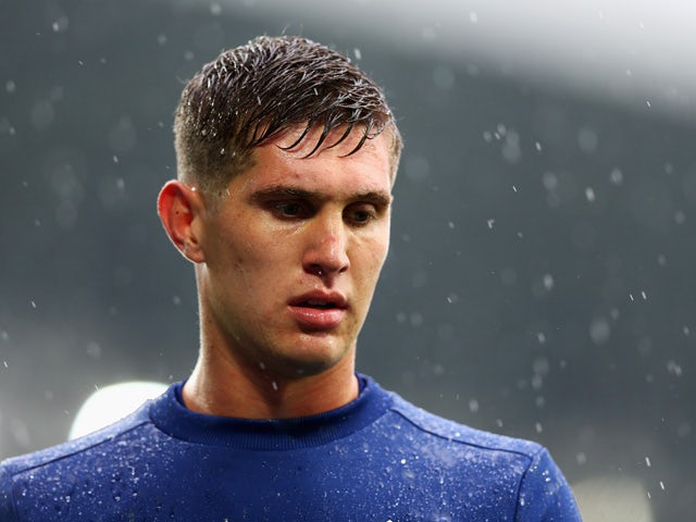 John Stones of Everton looks on prior to the Barclays Premier League match between Everton and Manchester City at Goodison Park on August 23, 2015