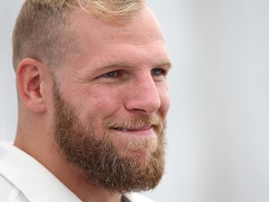 James Haskell and his beard address the media at an England press conference on August 17, 2015