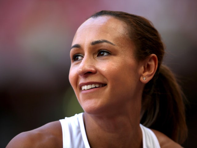 Jessica Ennis-Hill of Great Britain reacts after competing in the Women's Heptathlon High Jump during day one of the 15th IAAF World Athletics Championships Beijing 2015 at Beijing National Stadium on August 22, 2015