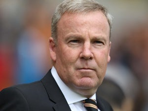 Kenny 'Grab Your' Jackett looks on during Wolves' game against Hull City on August 16, 2015