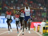 Mohamed Farah of Great Britain wins gold in the Men's 10000 metres final during day one of the 15th IAAF World Athletics Championships Beijing 2015 at Beijing National Stadium on August 22, 2015