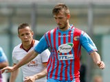 Norbert Gyomber of Catania during the Serie A match between Calcio Catania and AS Roma at Stadio Angelo Massimino on May 4, 2014