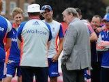 Roy 'Royston' Hodgson pays the England cricket team a visit on August 18, 2015