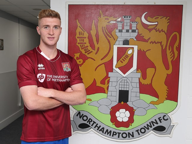 Northampton Town new loan signing Ryan Watson poses during a photo call at Sixfields Stadium on August 20, 2015