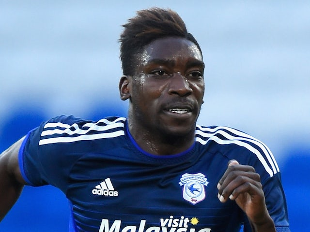 Cardiff striker Sammy Ameobi in action during the Pre season friendly match between Cardiff City and Watford at Cardiff City Stadium on July 28, 2015