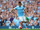 Sergio Aguero in action for Man City against Chelsea on August 16, 2015