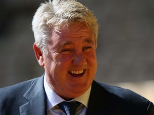 Hull boss Steve Bruce is all smiles ahead of his side's encounter with Wolves on August 16, 2015