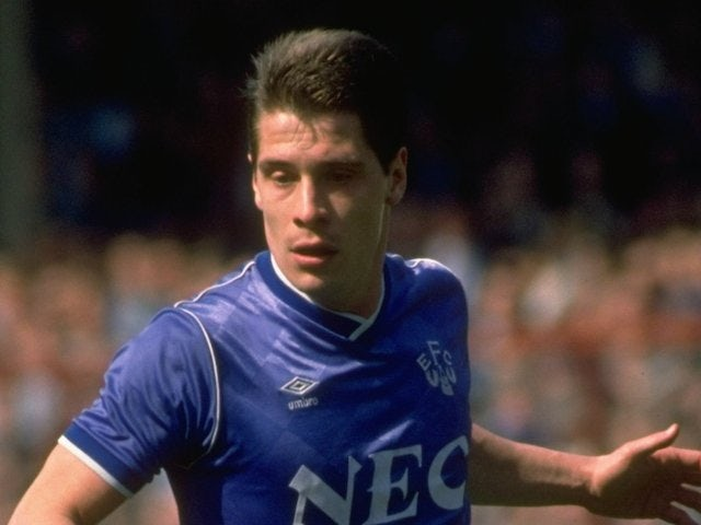 Tony Cottee of Everton in action during the FA Cup semi-final against Norwich City at Goodison Park in 1989