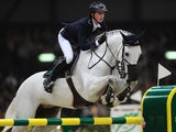 Ben Maher of Great Britain on Cella in action during the Rolex Grand Slam of Show Jumping at Palexpo on December 15, 2013
