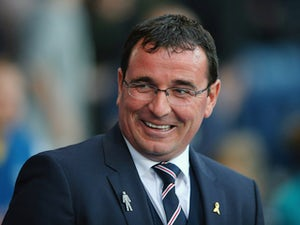 Gary Bowyer the manager of Blackburn Rovers looks on prior to the Sky Bet Championship match between Blackburn Rovers and Bolton Wanderers at Ewood park on August 28, 2015