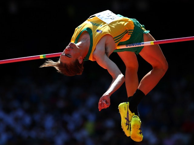 Brandon Starc of Australia competes in the Men's High Jump qualification during day seven of the 15th IAAF World Athletics Championships Beijing 2015 at Beijing National Stadium on August 28, 2015