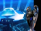 The trophy at the Champions League draw in 2013