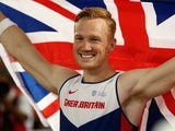 Ginger Greg Rutherford celebrates winning the long jump for Great Britain at the World Championships on August 25, 2015