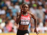 Joyce Zakary of Kenya competes in the Women's 400 metres heats during day three of the 15th IAAF World Athletics Championships Beijing 2015 at Beijing National Stadium on August 24, 2015