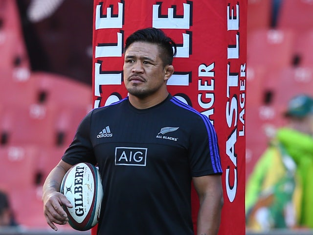 Keven Mealamu of New Zealand during The Castle Lager Rugby Championship 2015 match between South Africa and New Zealand at Emirates Airline Park on July 25, 2015