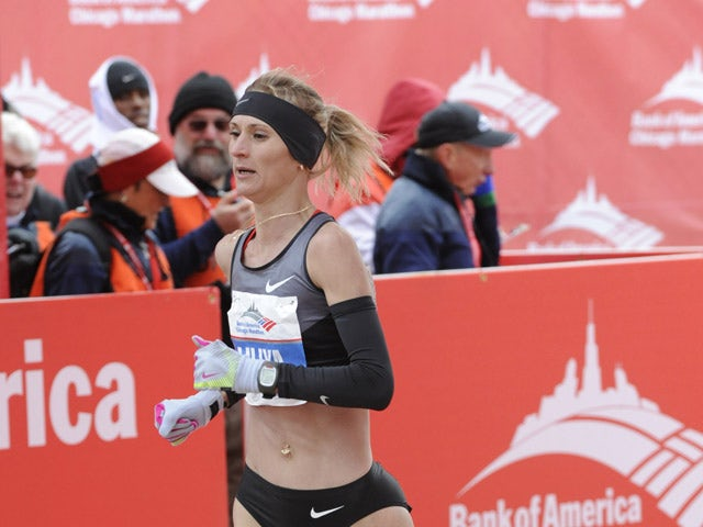 Liliya Shobukhova of the Russian Federation finishes fourth in the womens 2012 Bank of America Chicago Marathon on October 7, 2012