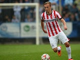 Eindshoven's Marcel Ritzmaier plays the ball during a test football match of German Bundesliga first divison football club Hertha BSC vs PSV Einhoven in Berlin on July 24, 2014