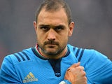 Italy's lock Marco Bortolami lines up before the Six Nations international rugby union match between England and Italy at Twickenham Stadium southwest of London on February 14, 2015
