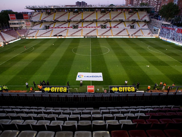 General view of Estadio de Vallecas prior to start the La Liga match between Rayo Vallecano de Madrid and Club Atletico de Madrid on August 25, 2014
