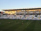 General view as players warm up at at Teresa Rivero stadium before the La Liga match between Rayo Vallecano de Madrid and Granada CF on December 14, 2013