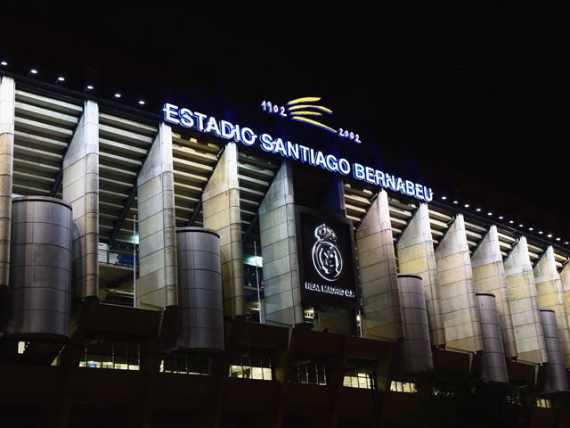 A general view prior to the UEFA Champions League Group B match between Real Madrid CF and Liverpool FC at Estadio Santiago Bernabeu on November 4, 201