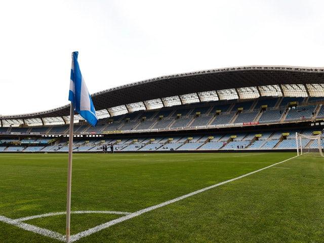 A general view of the stadium prior to the La Liga match between Real Sociedad de Futbol and Real Madrid CF at Estadio Anoeta on August 31, 2014