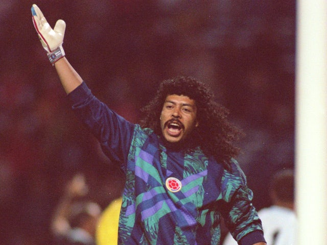 Colombian Goalkeeper Rene Higuita during the England versus Colombia friendly on September 6, 1995