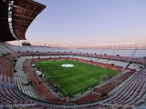 A general view of estadio Ramon Sanchez Pizjuan ahead of the Spain v Ukraine EURO 2016 Qualifier on March 27, 2015