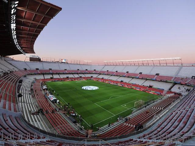 A general view of estadio Ramon Sanchez Pizjuan ahead of the Spain v Ukraine EURO 2016 Qualifier on March 27, 2015