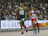 South Africa's Wayde Van Niekerk wins the final of the men's 400 metres athletics event at the 2015 IAAF World Championships at the 'Bird's Nest' National Stadium in Beijing on August 26, 2015