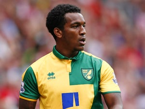 Norwich City's English defender Andre Wisdom gathers the ball during the English Premier League football match between Southampton and Norwich City at St Mary's Stadium in Southampton, southern England on August 30, 2015.