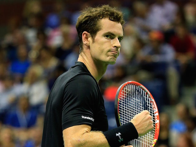 Andy Murray of Great Britain reacts against Nick Kyrgios of Australia during their Men's Singles First Round match on day two of the 2015 U.S. Open at the USTA Billie Jean King National Tennis Center on September 1, 2015 in New York City. (Photo by Chris