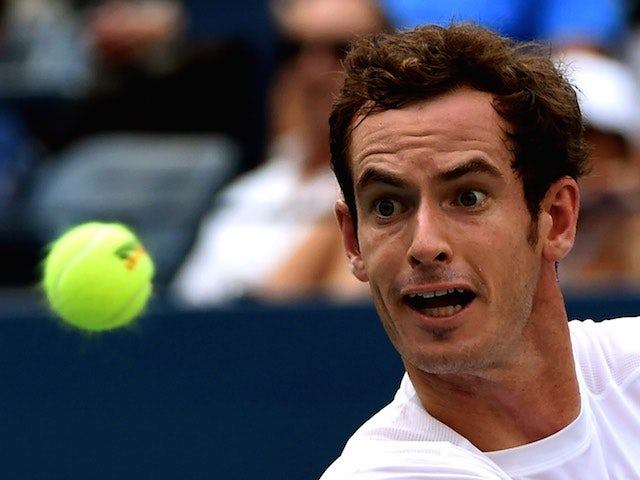Andy Murray observes a ball during the second round of the US Open on September 3, 2015