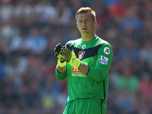 Artur Boruc of AFC Bournemouth during the Barclays Premier League match between Bournemouth and Aston Villa at the Vitality Stadium on August 8, 2015 in Bournemouth, England.