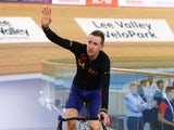 Sir Bradley Wiggins of Great Britain and Team Wiggins celebrates after breaking the UCI One Hour Record at Lee Valley Velopark Velodrome on June 7, 2015 in London, England.