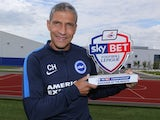 August's Championship Manager of the Month, Chris Hughton of Brighton & Hove Albion