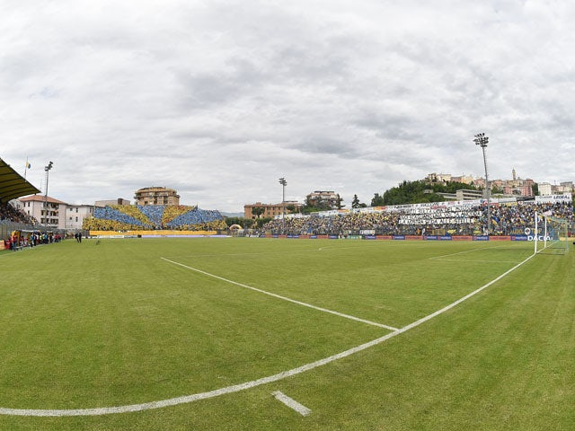 General view of Stadio Matusa before the Serie B match between Frosinone Cacio and FC Crotone at Stadio Matusa on May 16, 2015